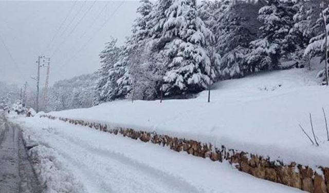 اليكم الطرقات السالكة والمقطوعة بسبب الثلوج