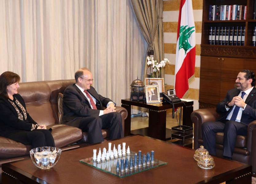 الحريري عرض وبيلينغسليا جهود لبنان لمكافحة تمويل الإرهاب